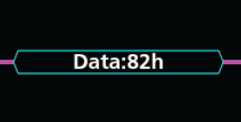 Data is shown in cyan boxes. Data values can be displayed in either hex or binary.