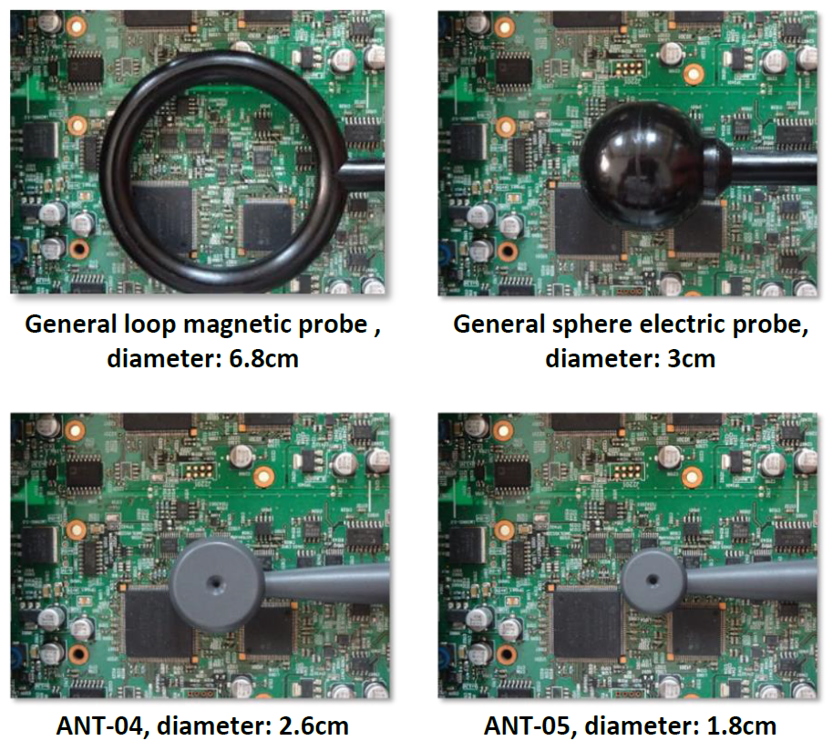 ANT-04 and ANT-05 of GW Instek's GKT-008 have the characteristics of small size and high identification resolution.