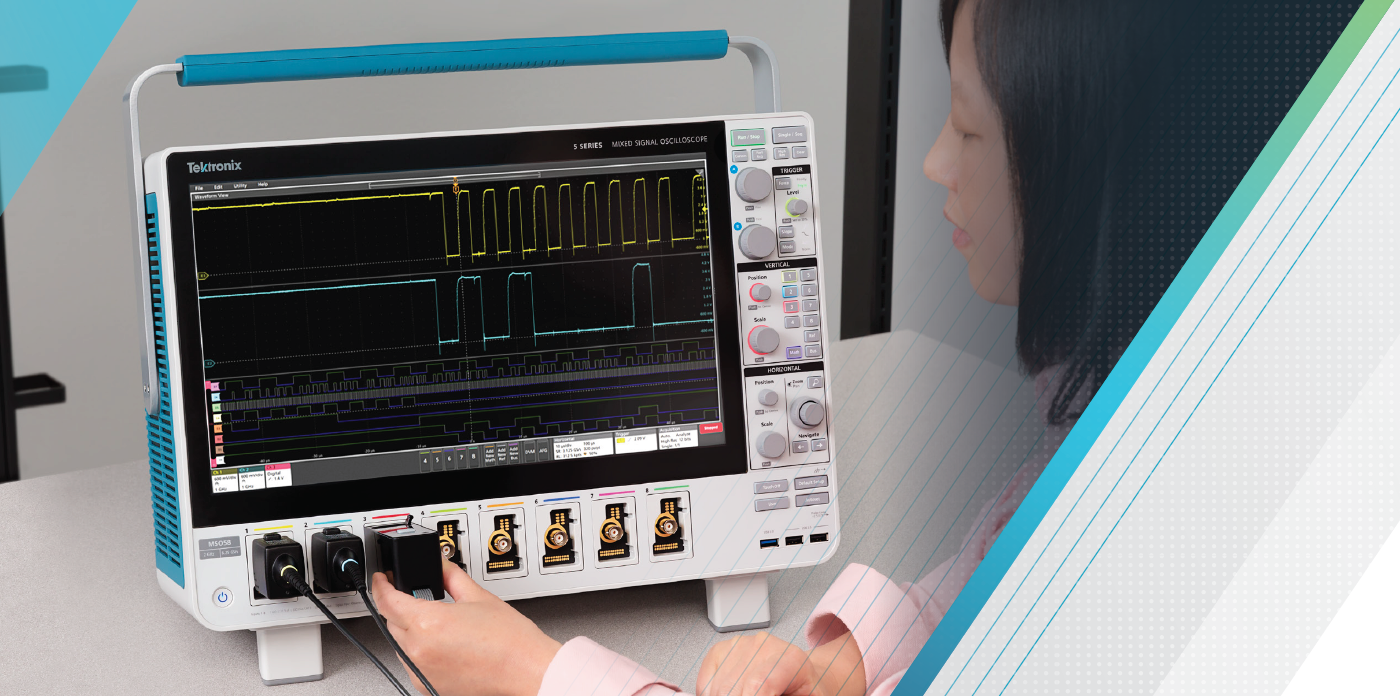 Tektronix 5 Series MSO oscilloscope - Troubleshooting Multiple-Bus Systems Using FlexChannel® Input Channels