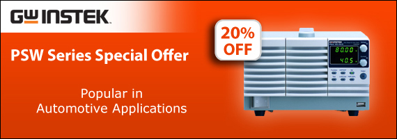Save 20% on a range of quality and reliable DC Power Supplies from GW Instek