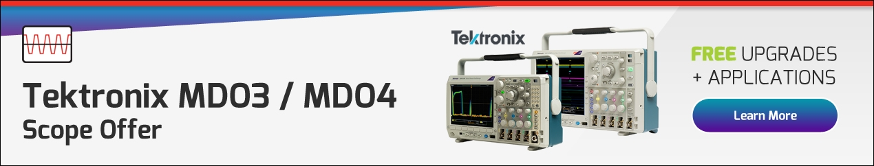 Tektronix MDO3000 and MDO4000C Oscilloscope Promotion