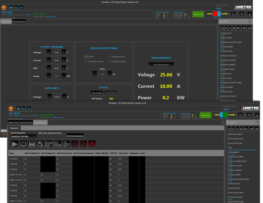 Asterion DC Virtual Panels (Graphical User Interface)