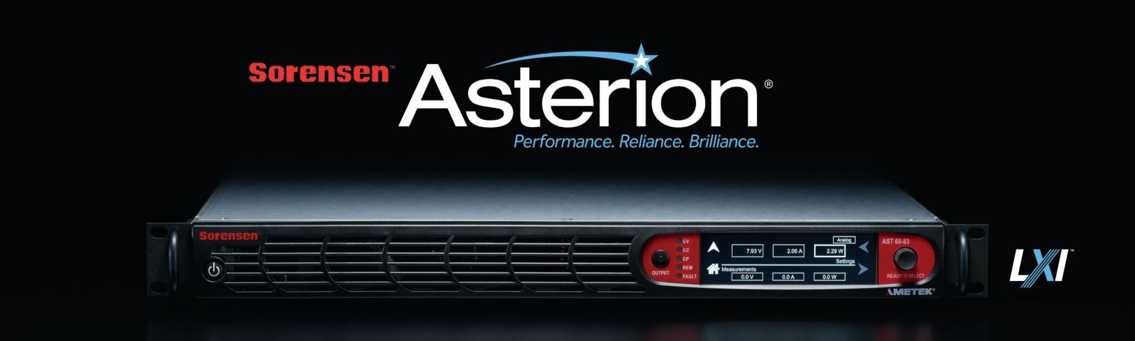 Sorensen Asterion DC Series - High Performance Programmable DC Power Supply