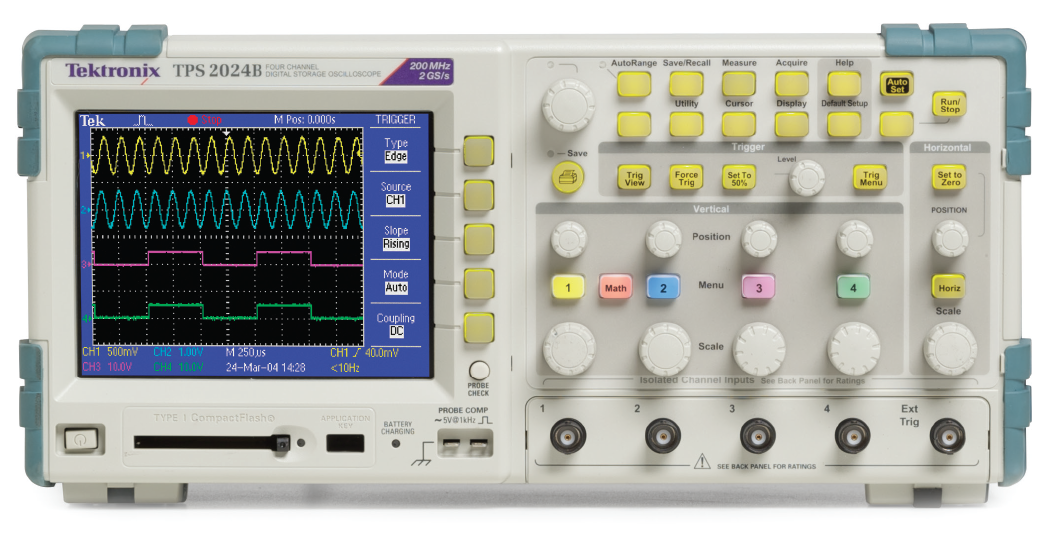 Tektronix TPS2000 Series Oscilloscope.