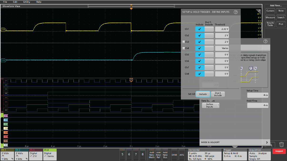 Using waveform trigger modes to isolate signal integrity issues