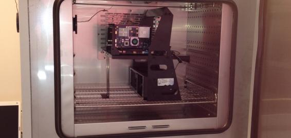 Temperature testing of a PCI express card