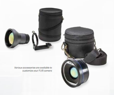 Various accessories are available to customize your FLIR camera