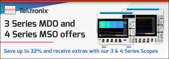 Tektronix- 3 Series MDO and 4 Series MSO promotion- special offers
