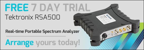 Tektronix RSA500 Series Free Trial Promotional Image