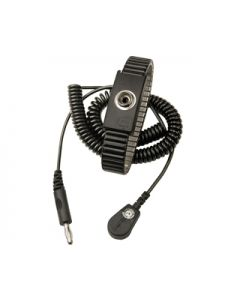 Vermason Metal Expansion Adjustable Wrist Strap with 2m Coiled Cord, 10mm Snap