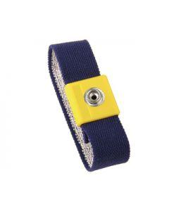 Vermason Elastic Adjustable Wrist Band, Blue with Yellow Cap, 4mm