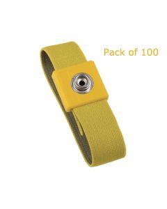 Vermason Yellow - Wristband, Elastic Adjustable - Pack of 100